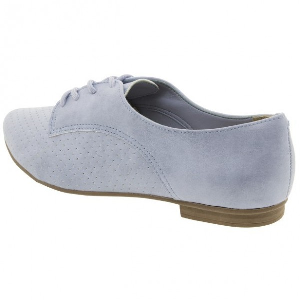 Light Blue Women's Oxfords Comfortable Lace-up Vintage Shoes image 4
