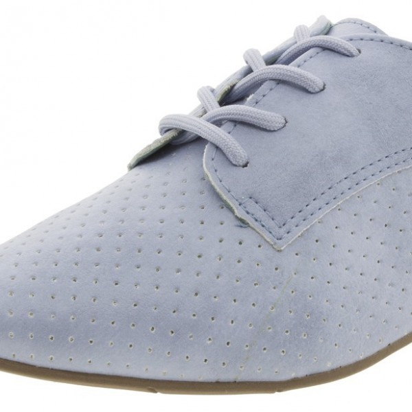 Light Blue Women's Oxfords Comfortable Lace-up Vintage Shoes image 3