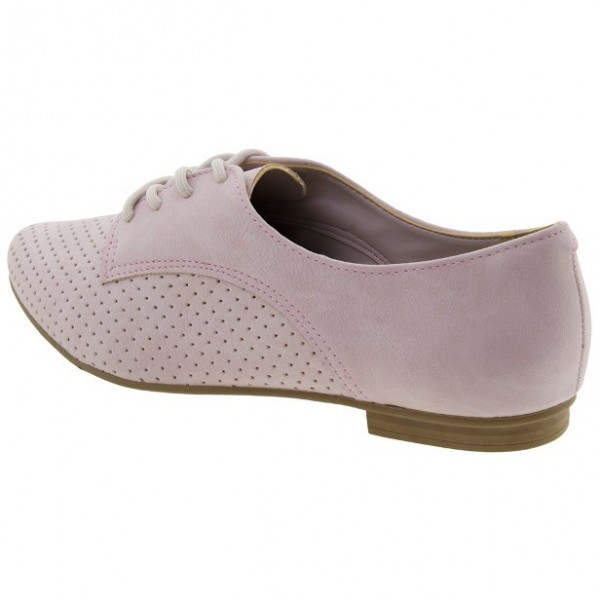 Pink School Shoes Suede Oxfords Lace up Comfortable Shoes image 4
