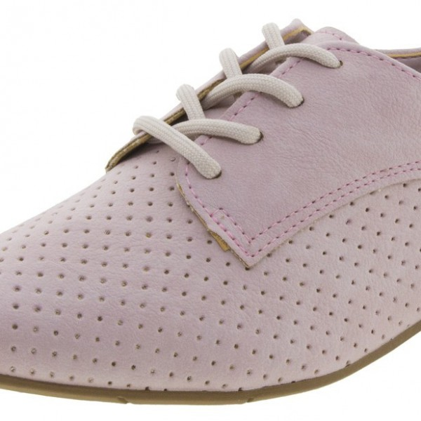 Pink School Shoes Suede Oxfords Lace up Comfortable Shoes image 2