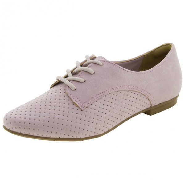 Pink School Shoes Suede Oxfords Lace up Comfortable Shoes image 1