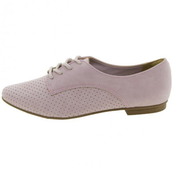 Pink School Shoes Suede Oxfords Lace up Comfortable Shoes image 3