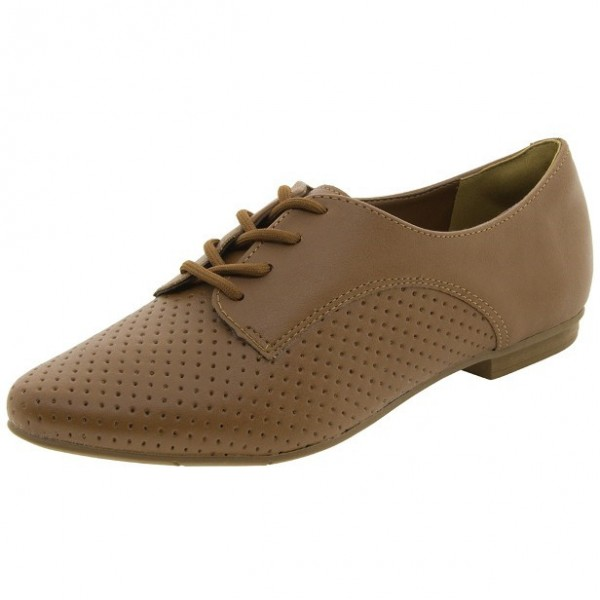 Women's Brown  Oxfords Comfortable Flats Vintage Boots image 1