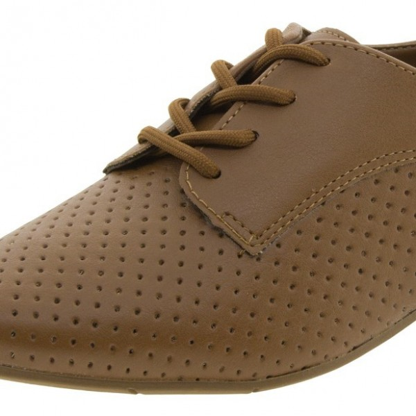 Women's Brown Oxfords Comfortable Flats Vintage Boots image 3