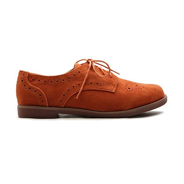 Women's Orange Oxfords Comfortable Vintage Shoes  image 3