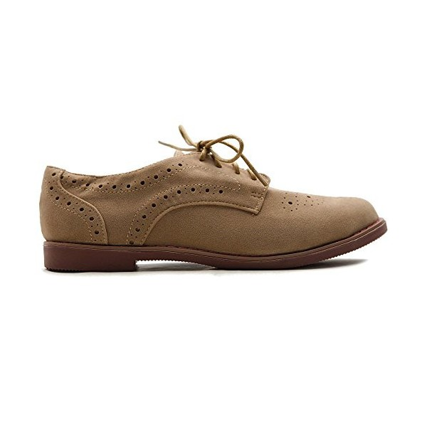 Tan Vintage Shoes Lace up Flats Comfortable Oxfords  image 4
