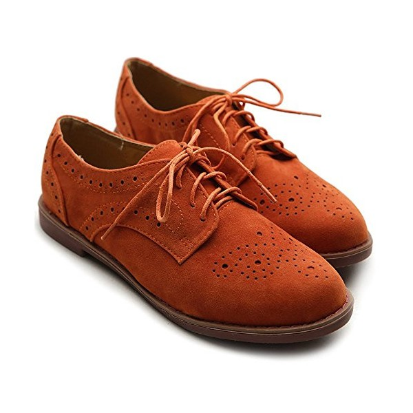 Women's Orange Oxfords Comfortable Vintage Shoes  image 2
