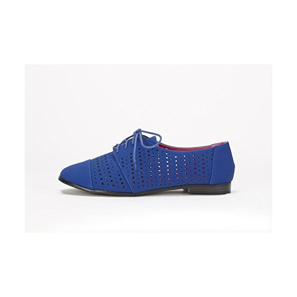Royal Blue Comfortable Shoes Hollow Out Oxfords image 3