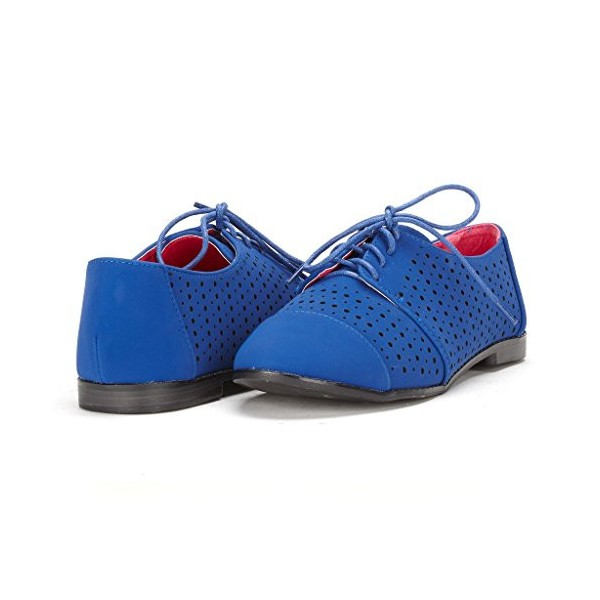 Royal Blue Comfortable Shoes Hollow Out Oxfords image 1