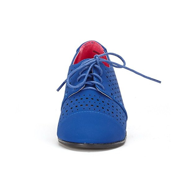 Royal Blue Comfortable Shoes Hollow Out Oxfords image 2