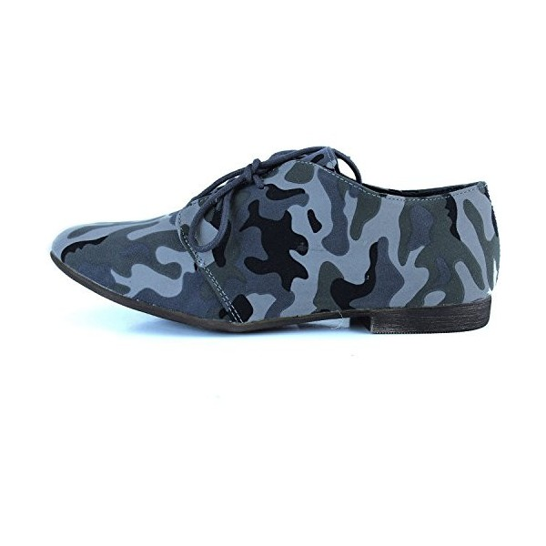 Camouflage Comfortable Shoes Lace-up Flat Oxfords image 5