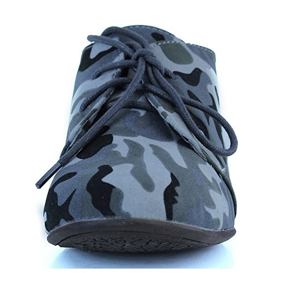 Camouflage Comfortable Shoes Lace-up Flat Oxfords image 4