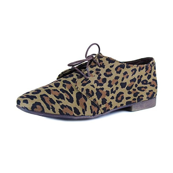 Women's Comfortable Leopard Print Flats Women's Oxfords& Brogues image 1