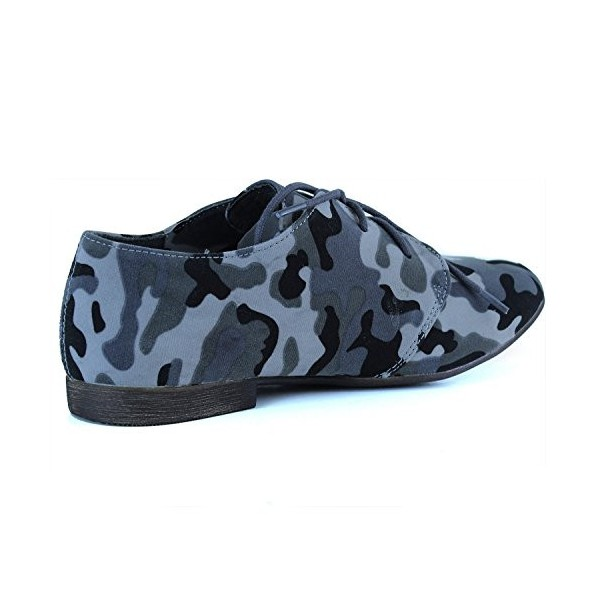 Camouflage Comfortable Shoes Lace-up Flat Oxfords image 3