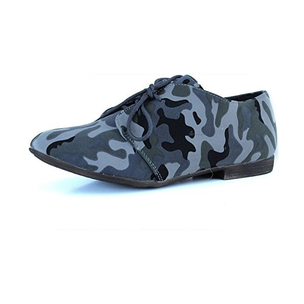 Camouflage Comfortable Shoes Lace-up Flat Oxfords image 1