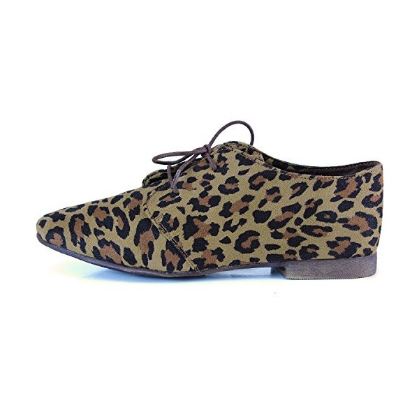 Women's Comfortable Leopard Print Flats Women's Oxfords& Brogues image 3