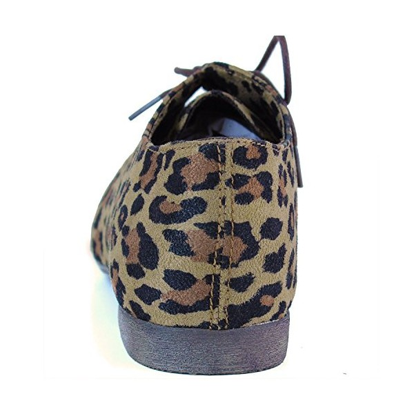 Women's Comfortable Leopard Print Flats Women's Oxfords& Brogues image 2