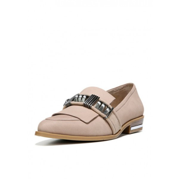 Women's  Oxfords Pink Round Toe Vintage Slip-on Flats image 1
