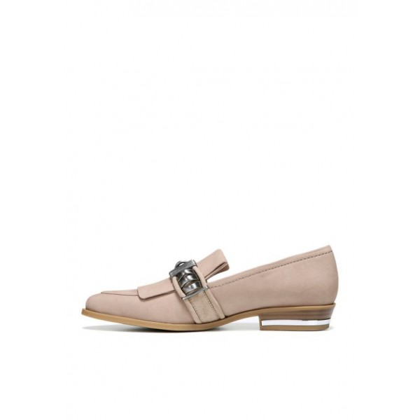 Blush Suede Round Toe Flat Loafers for Women image 2