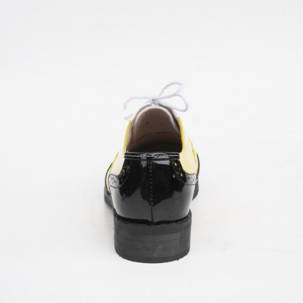 Women's Yellow Comfortable Vintage Shoes Women's Brogues image 4