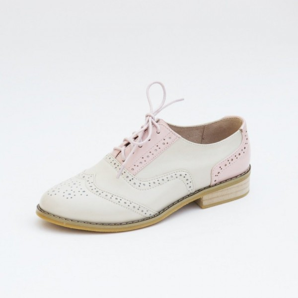 Women's Pink Comfortable Vintage Shoes Women's Brogues image 5
