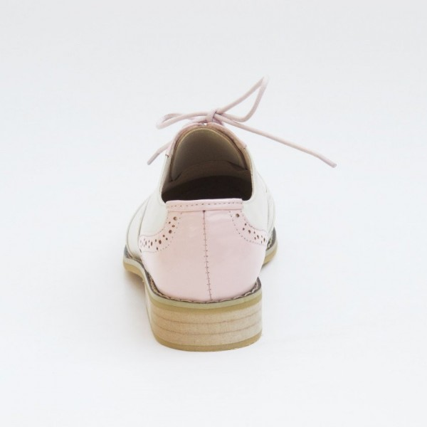 Women's Pink Comfortable Vintage Shoes Women's Brogues image 4