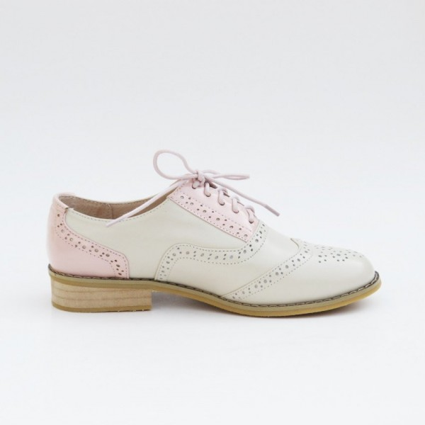 Women's Pink Comfortable Vintage Shoes Women's Brogues image 2