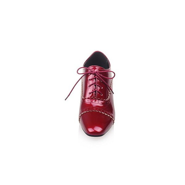 Women's Burgundy Cute Vintage Shoes Women's Brogues image 6