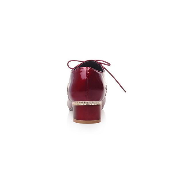 Women's Burgundy Cute Vintage Shoes Women's Brogues image 2