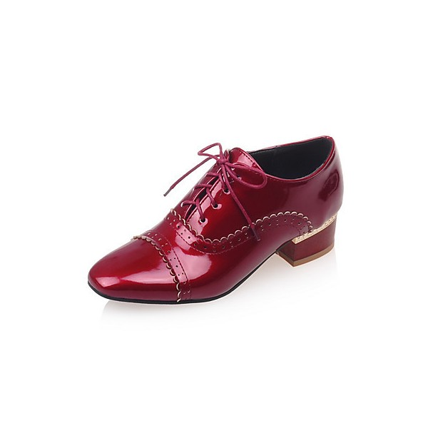 Women's Burgundy Cute Vintage Shoes Women's Brogues image 1