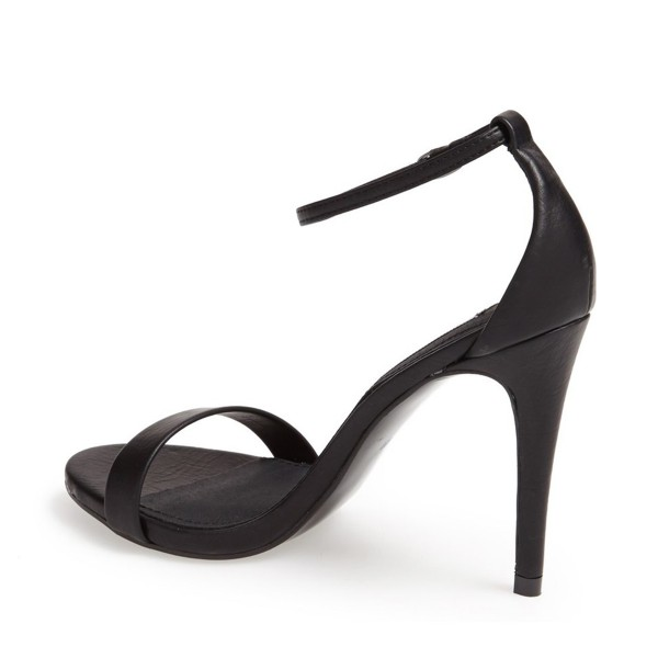 Women's Black Sexy Ankle Strap Sandals Open Toe Stiletto Heels image 2