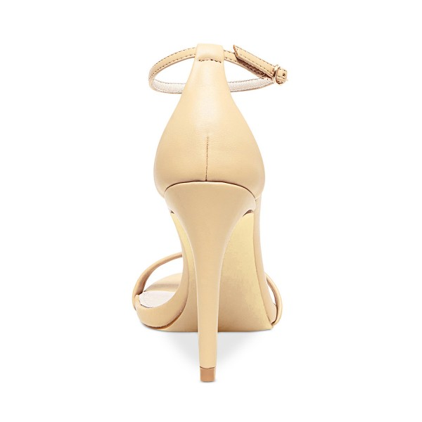 Beige Open Toe Commuting Stiletto Heels Ankle Strap Sandals image 3