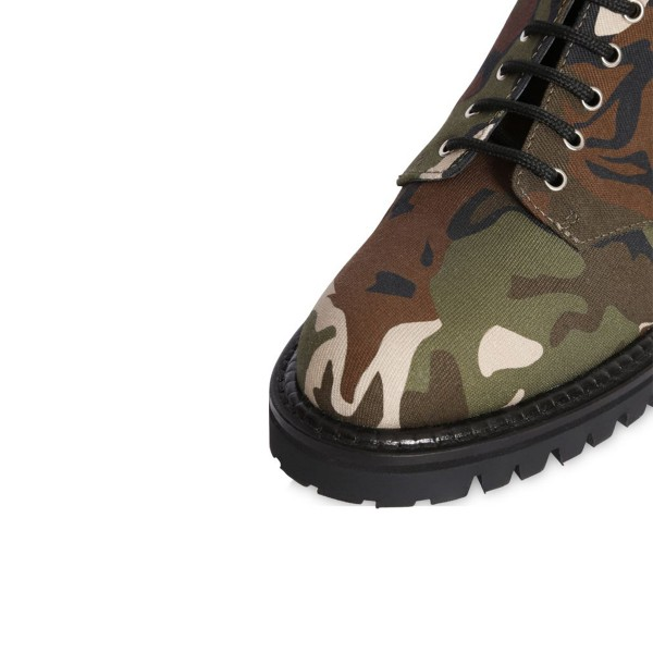 Combat Boots Camouflage Lace up Round Toe Mid-calf Boots image 5