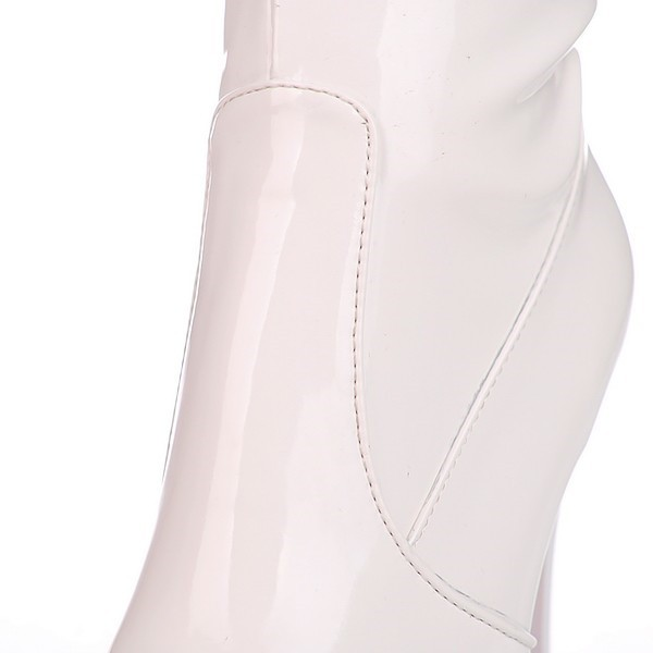 Ivory Stripper Shoes Patent Leather Over-the-knee Boots image 3