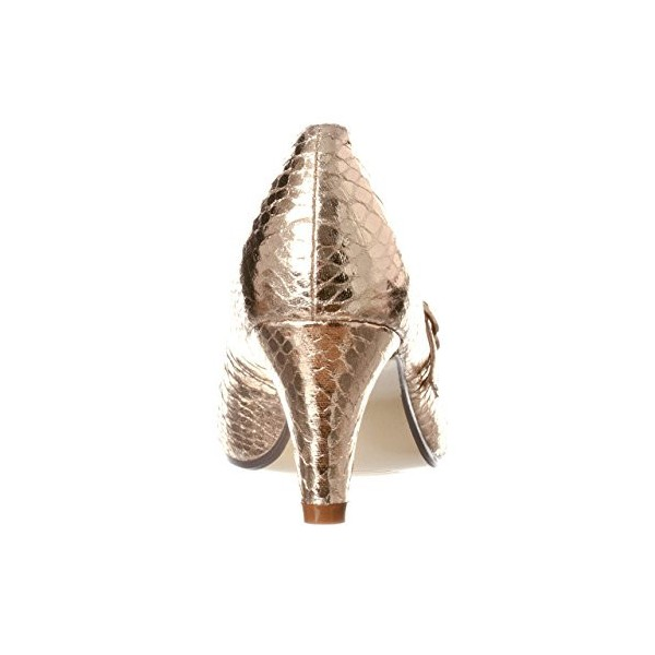 Gold Mary Jane Pumps Python Vintage Heels for Women image 2