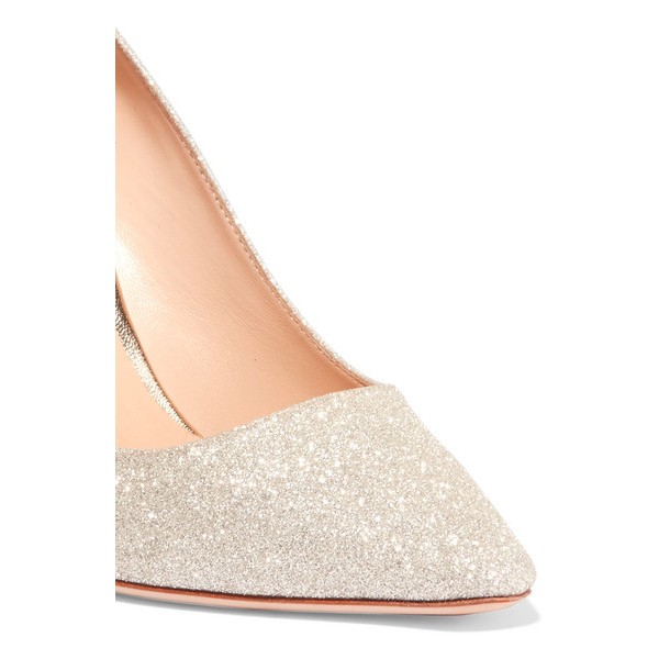 Women's Champagne Low-cut Uppers Stiletto Heel Pumps Bridal Heels image 3