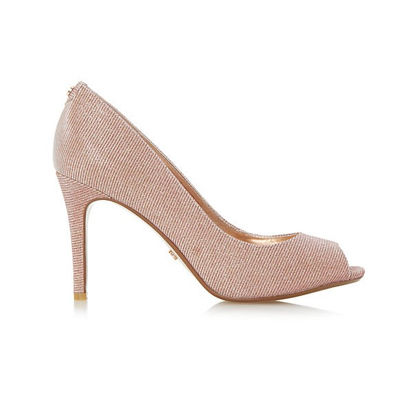 Peach Wedding Shoes Peep Toe Stiletto Heel Pumps for Bridesmaid image 3