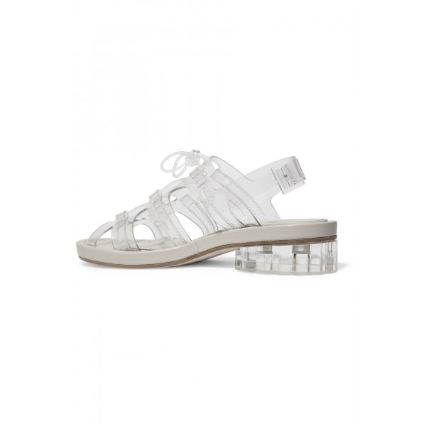 Clear Comfortable Flats Slingback Sandals image 2