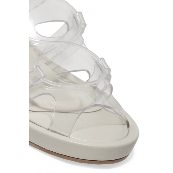 Clear Comfortable Flats Slingback Sandals image 3