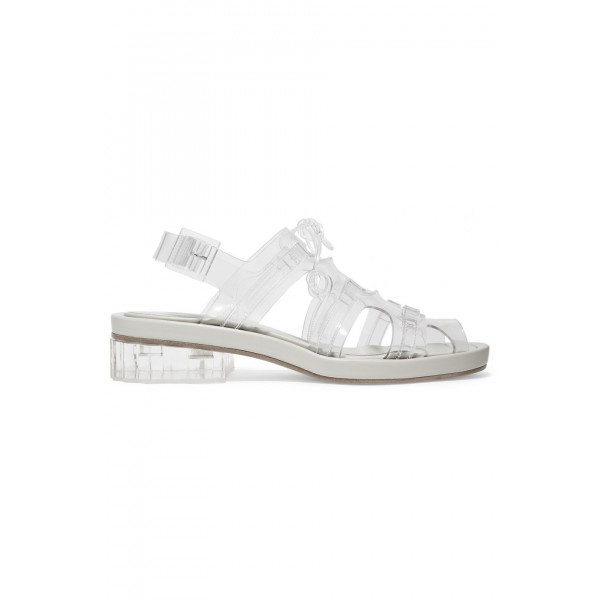 Clear Comfortable Flats Slingback Sandals image 4