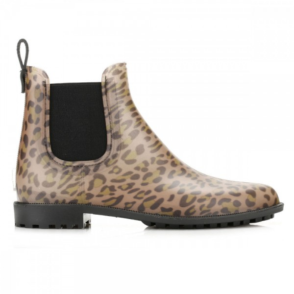 Leopard Print Boots Round Toe Slip-on Chelsea Boots US Size 3-15 image 6