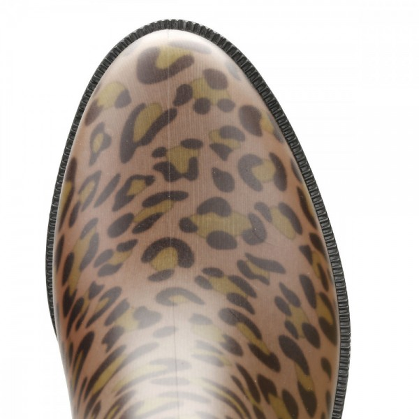 Leopard Print Boots Round Toe Slip-on Chelsea Boots US Size 3-15 image 5