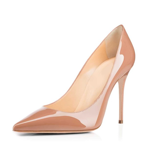 Blush Heels Nude Pumps Dress Shoes for Office Ladies by FSJ image 4