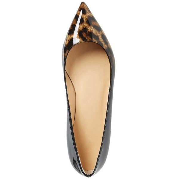 Women's Leopard Print Flats Comfortable Shoes Pointy Toe Flats image 4