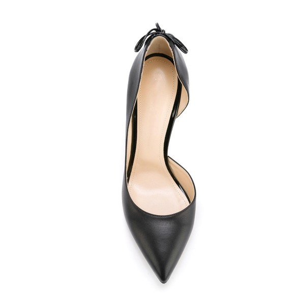 FSJ Shoes Women's Black Dress Shoes Pointy Toe Formal Office Heels image 6