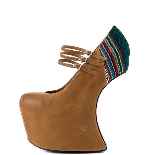 Brown Wedge Shoes Platform Mary Jane Closed Toe Wedges image 3