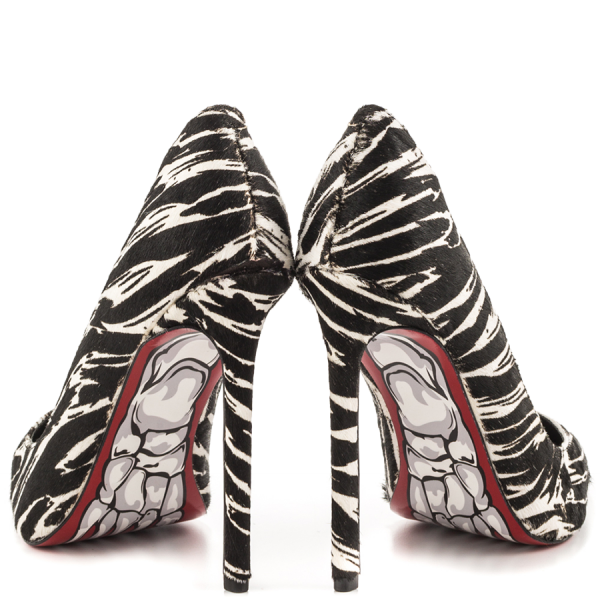 Women's Giant Horse Printed Office Heels Pointy Toe Stiletto Heels Pumps image 4
