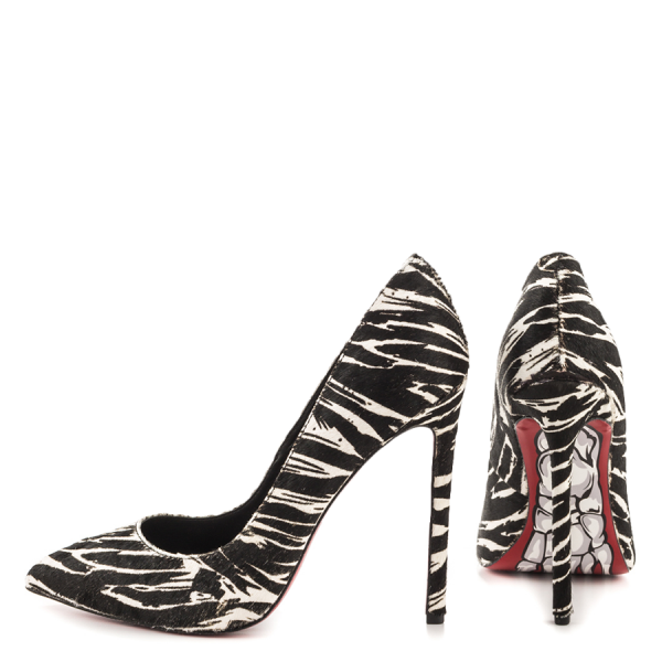 Women's Giant Horse Printed Office Heels Pointy Toe Stiletto Heels Pumps image 3