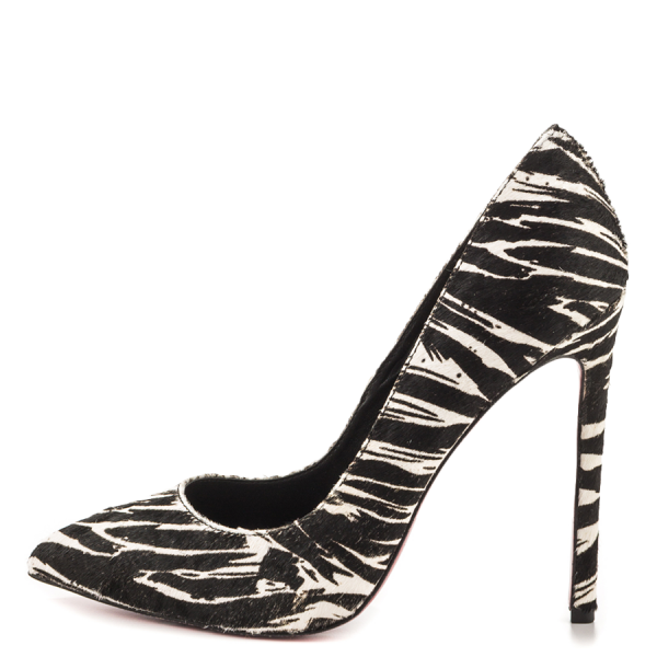 Women's Giant Horse Printed Office Heels Pointy Toe Stiletto Heels Pumps image 1
