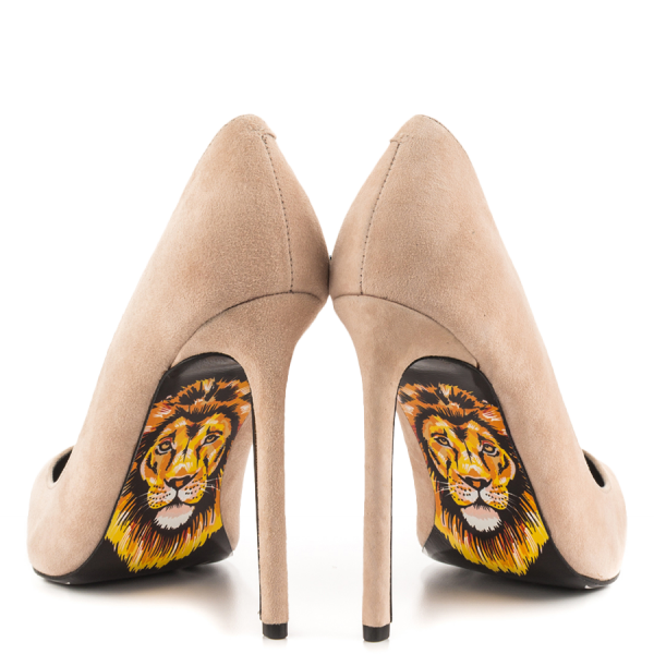 Lion Printed 4 Inch Heels Stiletto Heels Pumps Pointy Toe Office Heels image 4